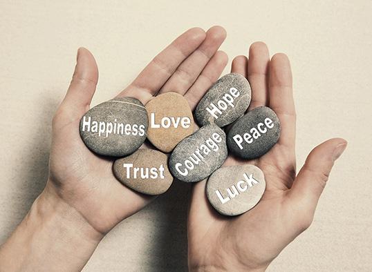 Kamienie - love, hope, happiness